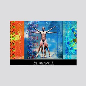 Vitruvian 2 Rectangle Magnet