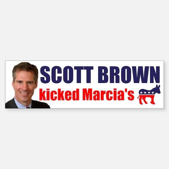 Scott Brown V Marcia Bumper Bumper Bumper Sticker