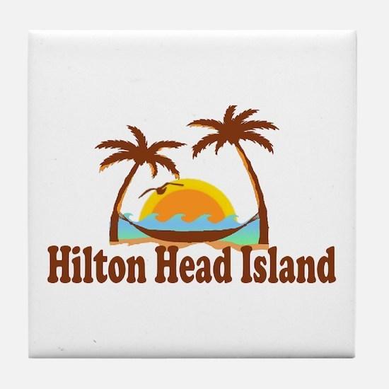 Hilton Head Island SC - Sun and Palm Trees Design