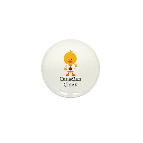 Canadian Chick Mini Button