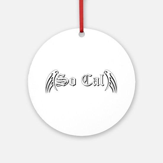 So Cal 1 Black Ornament (Round)