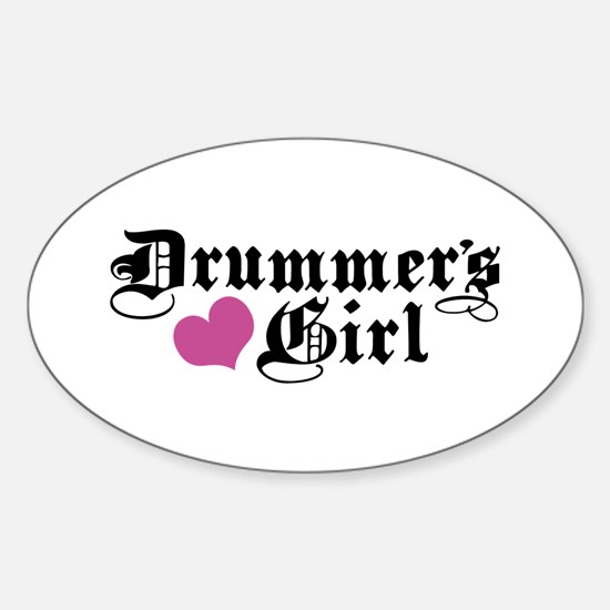Drummer's Girl Oval Decal