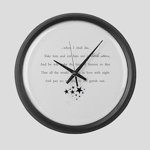 Little Stars Large Wall Clock