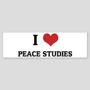 I Love Peace Studies Bumper Sticker