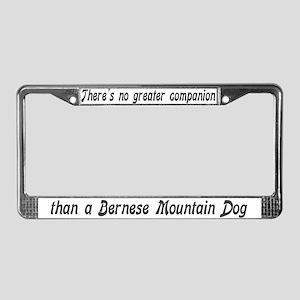 """Bernese Mountain Dog"" License Plate Frame"