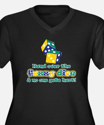 Hand over the fuzzy dice Women's Plus Size V-Neck