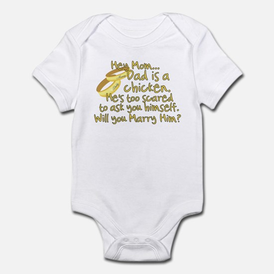 Will you marry Daddy? Infant Bodysuit