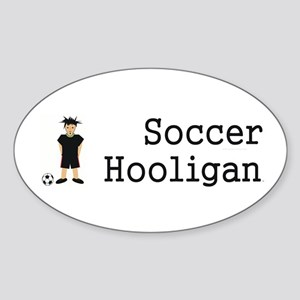 TOP Soccer Hooligan Oval Sticker