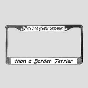"""Border Terrier"" License Plate Frame"