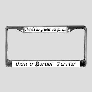"""""""Border Terrier"""" License Plate Frame"""