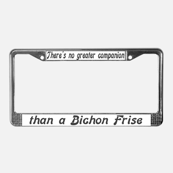 """Bichon Frise"" License Plate Frame"