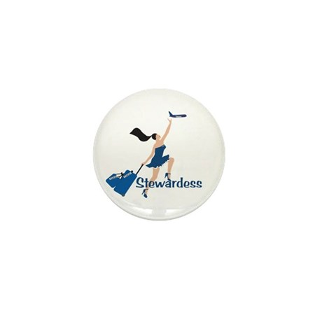BR Catching Her Flight Stew Mini Button (10 pack)