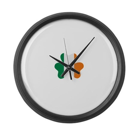 Shamrock Large Wall Clock