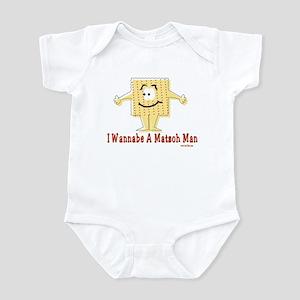 Wannabe Matzo Man Passover Infant Bodysuit