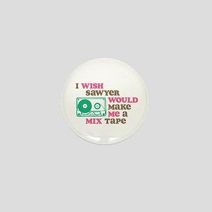 Sawyer Mix Tape Mini Button