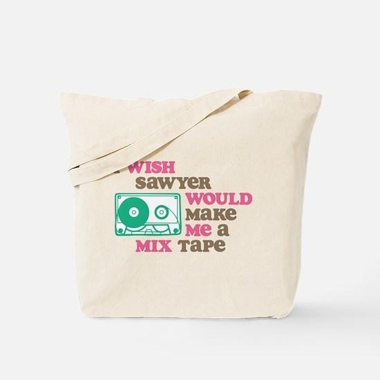 Sawyer Mix Tape Tote Bag