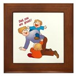 Great Dad Framed Tile