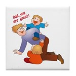 Great Dad Tile Coaster