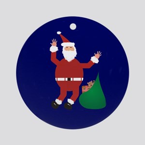 Santa Claus Ornament (Round)