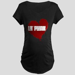 Lil Punk Heart Maternity Dark T-Shirt