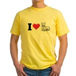 I Love Corgi2 Yellow T-Shirt