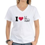 I Love Corgi2 Women's V-Neck T-Shirt