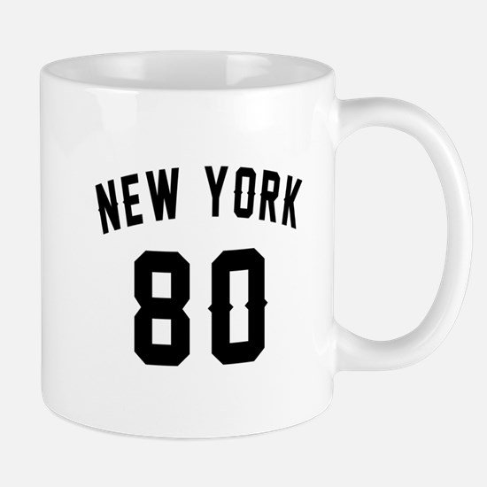 New York 80 Birthday Designs Mug