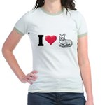 I Love Corgi2 Jr. Ringer T-Shirt