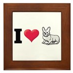 I Love Corgi2 Framed Tile