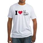 I Love Corgi2 Fitted T-Shirt