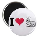 "I Love Corgi2 2.25"" Magnet (100 pack)"