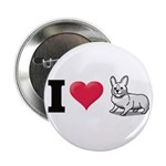 "I Love Corgi2 2.25"" Button (100 pack)"