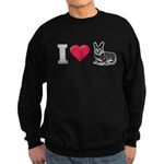 I Love Corgi2 Sweatshirt (dark)