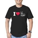 I Love Corgi2 Men's Fitted T-Shirt (dark)