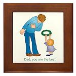 Best Dad Framed Tile