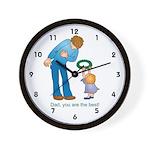 Best Dad Wall Clock