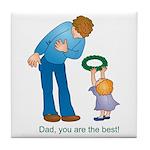 Best Dad Tile Coaster