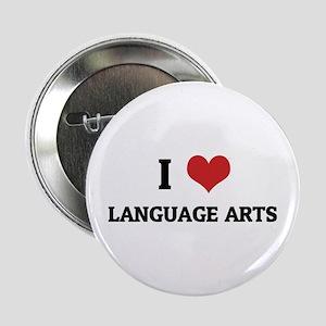 I Love Language Arts Button