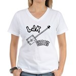 LJK Cigar Box Guitars Women's V-Neck T-Shirt
