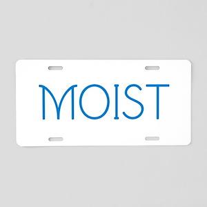 Moist Aluminum License Plate