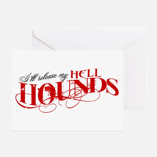 Hellhounds on the Way Greeting Card