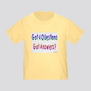 4 Questions Answers Passover Toddler T-Shir