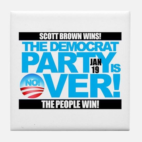 Unique Scott brown Tile Coaster