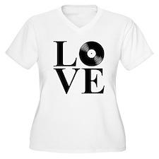 LOVE Women's Plus Size V-Neck T-Shirt