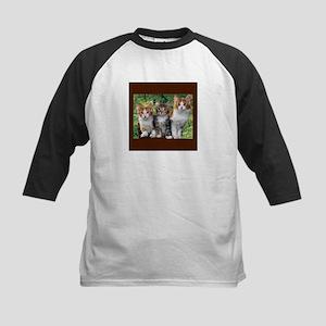 3 Cats Kids Baseball Jersey