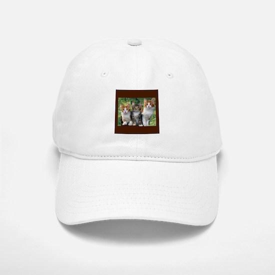 3 Cats Baseball Baseball Cap