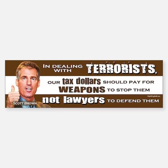 Scott Brown - Dealing With Terrorists Bumper Bumper Sticker