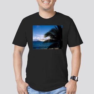 Grand Cayman Men's Fitted T-Shirt (dark)
