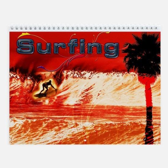 Surfing Calendar Wall Calendar