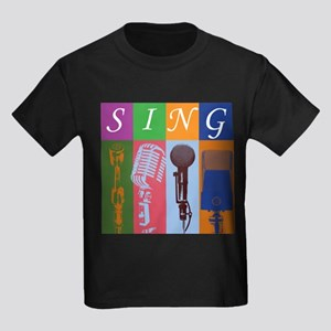 Microphones with 8 Colors and Kids Dark T-Shirt